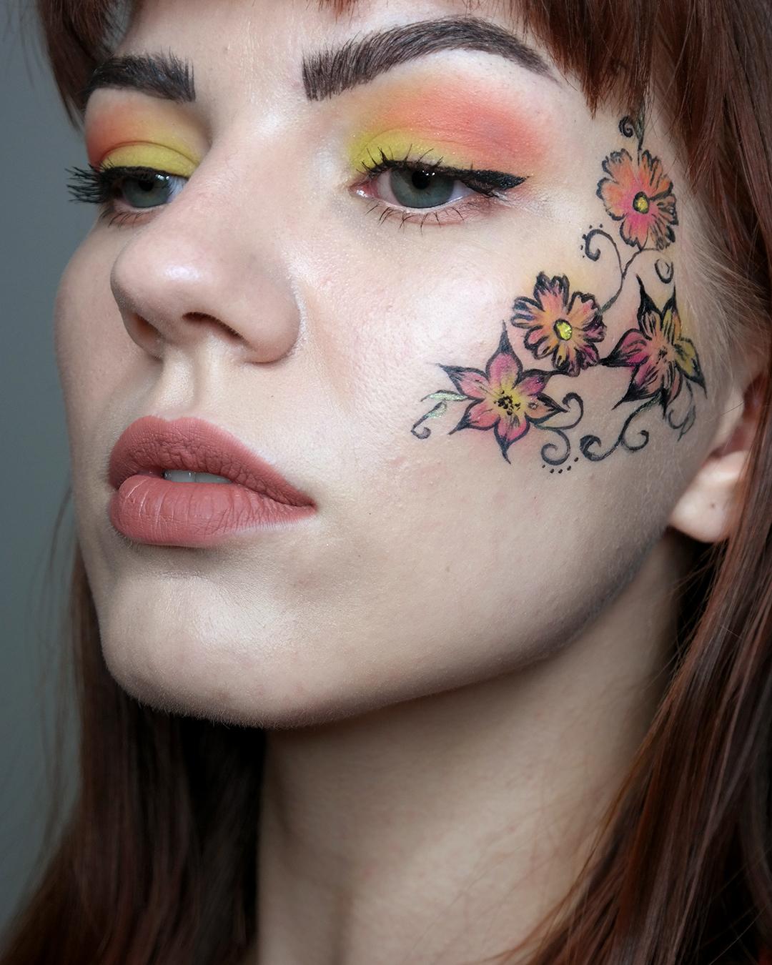auringonlasku kukka meikki