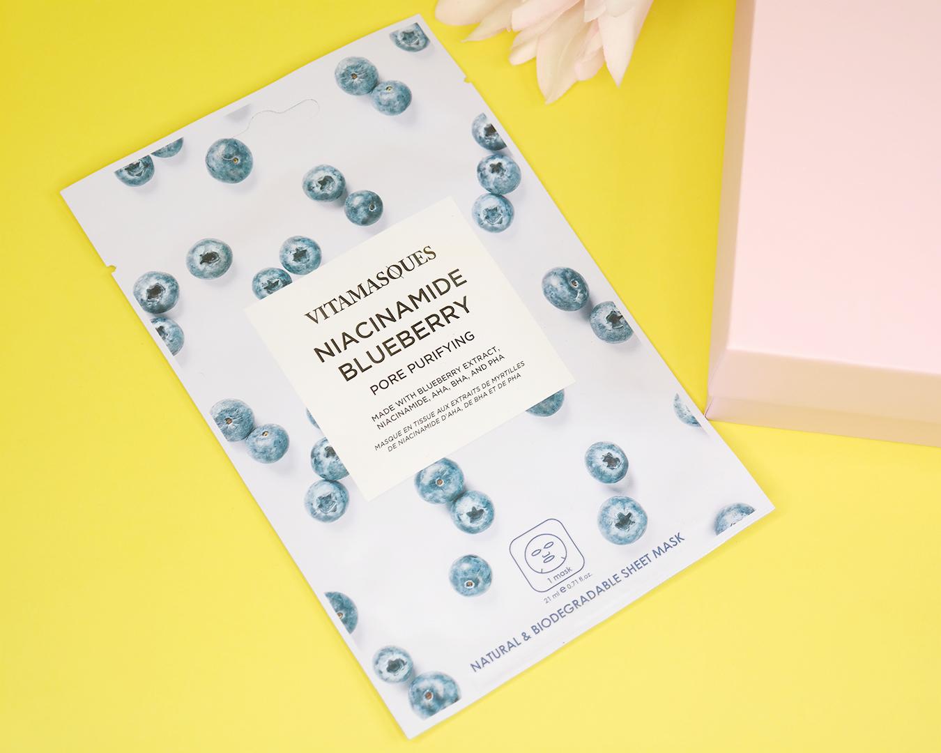 Vitamasques Niacinamide Blueberry Sheet Mask