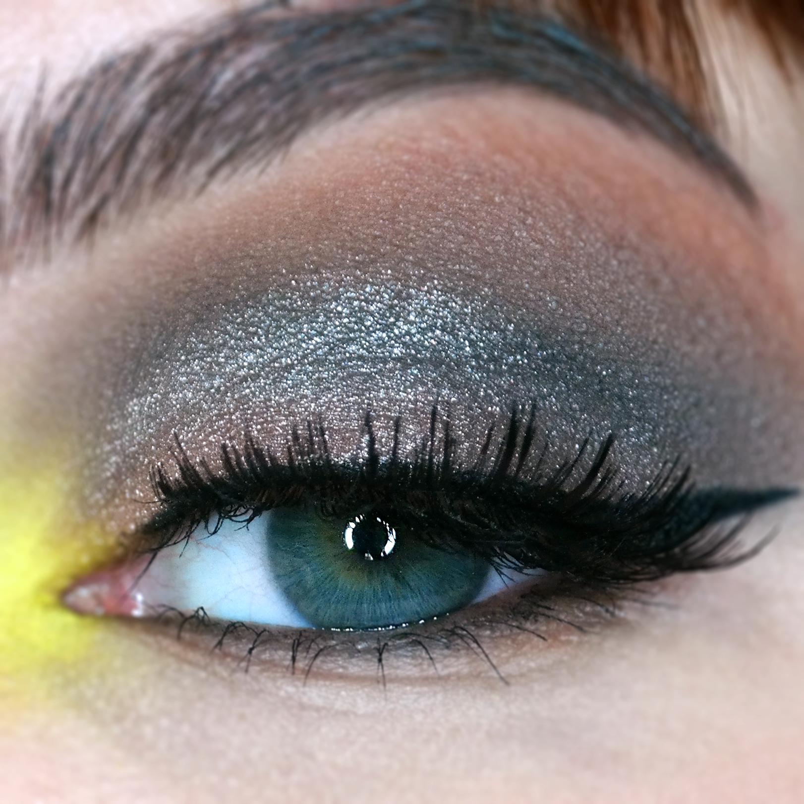 yellow mermaid tears makeup