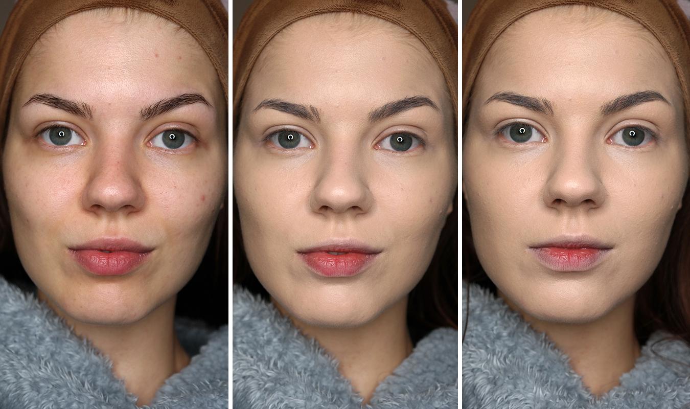 Uoma Say What?!: 1. Puhdas iho, 2. Yksi kerros meikkivoidetta, 3. Kaksi kerrosta meikkivoidetta