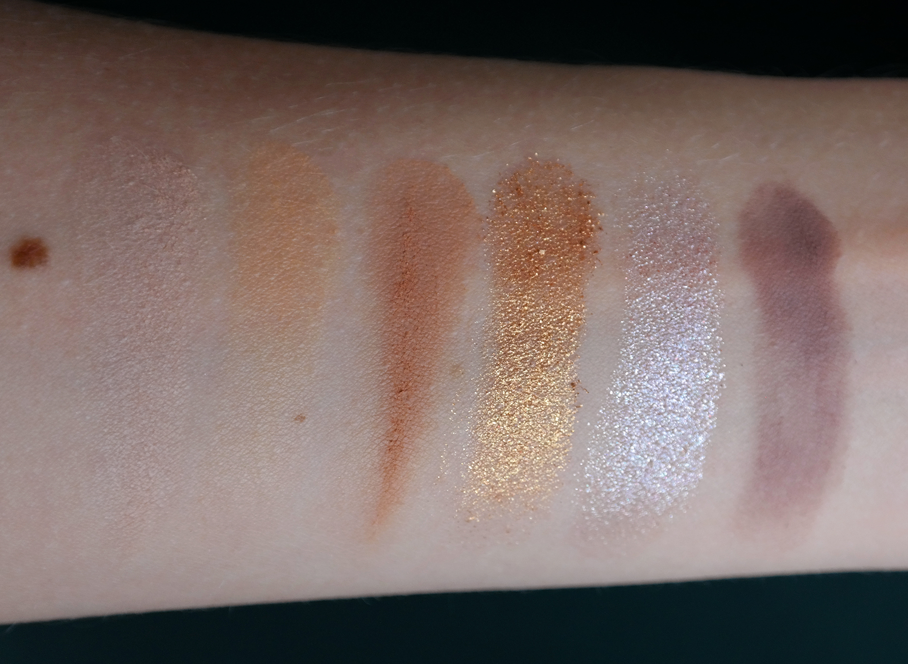Urban Decay Naked Wild West swatches