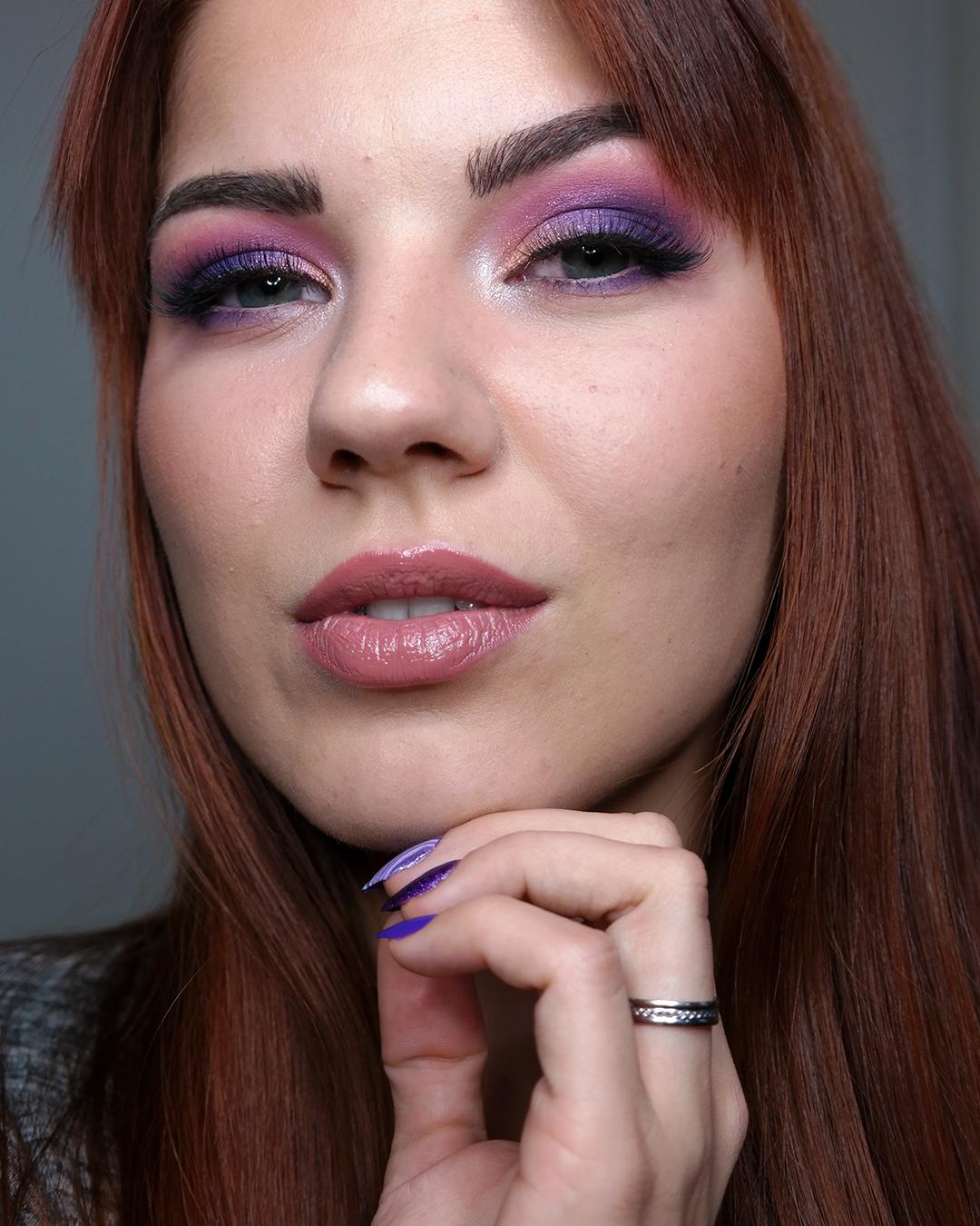 violetti meikki