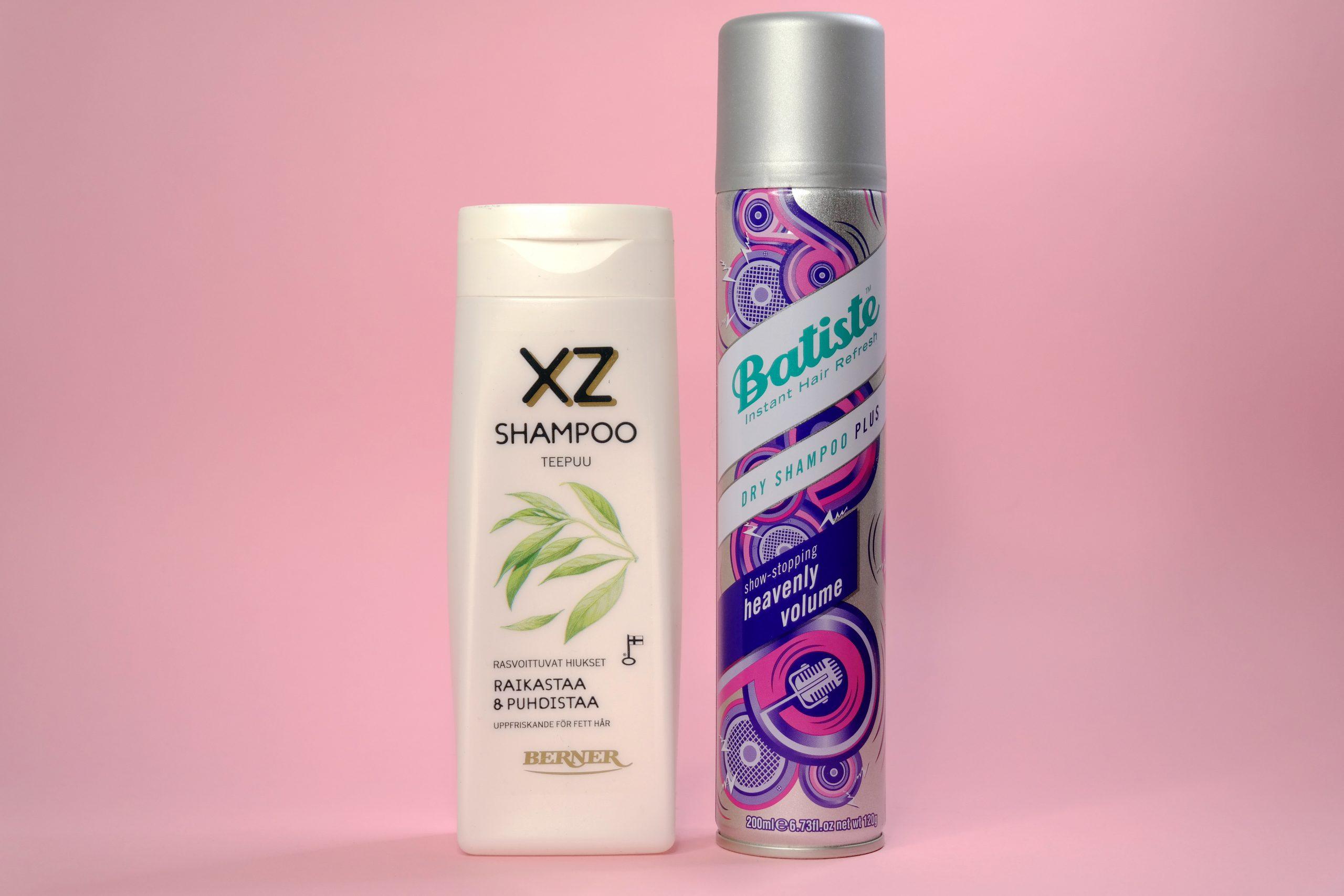 XZ Shampoo rasvoittuvat hiukset, Batiste Heavenly volume dry shampoo